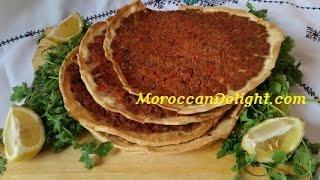 Turkish Pizza - Pide Lahmacun -صفيحه بلحمه /  البيتزا التركية  - Pizza Turque