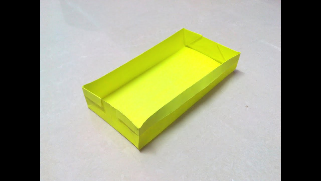 How to make a rectangular origami box. - YouTube