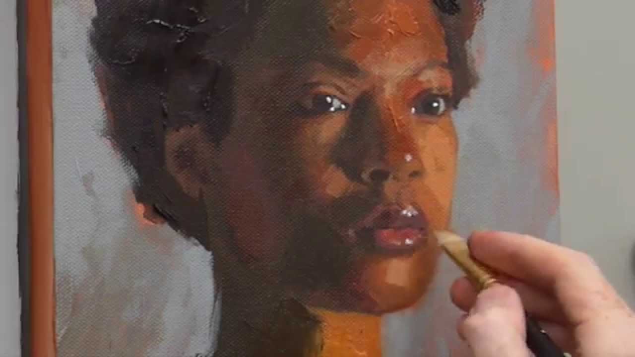 how to paint acrylic portrait video course youtube