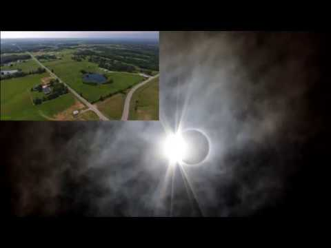 2017 Solar Eclipse Totality Blackout - Drone and Ground Video - Marion, IL