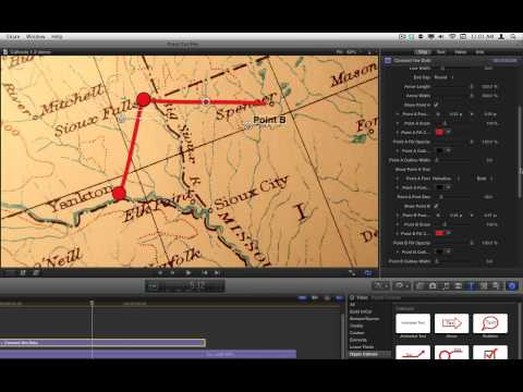 Indiana Jones Travel Maps in Final Cut Pro X