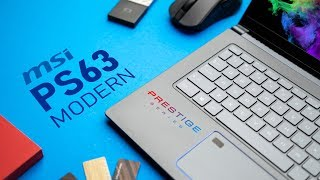 The Perfect Creator Notebook? MSI PS63 Modern Review