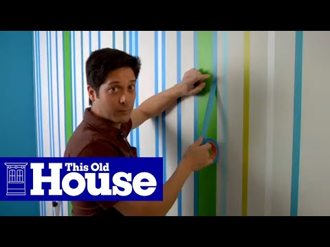 How To Paint A Striped Wall This Old House YouTube Simple Second Home Furniture Ideas Painting