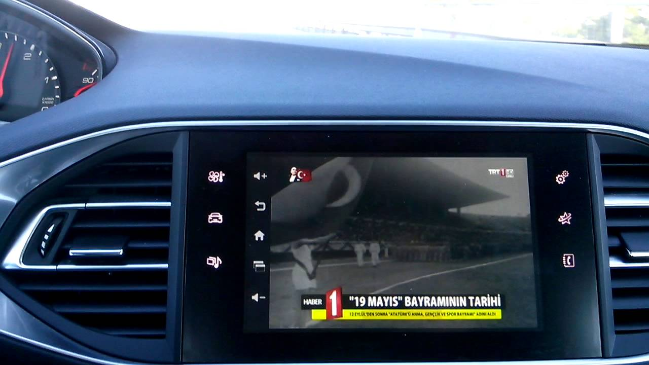 peugeot 308 corvin android interface tv performans youtube. Black Bedroom Furniture Sets. Home Design Ideas