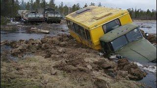 Взаимовыручка водителей на бездорожье крайнего севера России Подборка