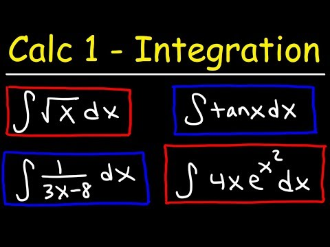 Calculus 1 - Integration & Antiderivatives