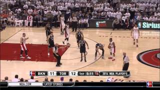 Drake lint rolls his pants sitting courtside: Brooklyn Nets at Toronto Raptors, Game 2