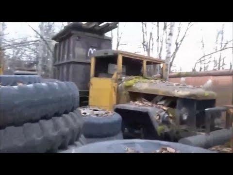 Salvage Yard of Military Trucks
