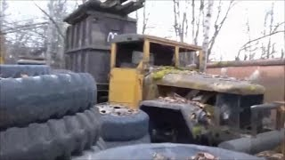 Salvage Yard of Military Trucks
