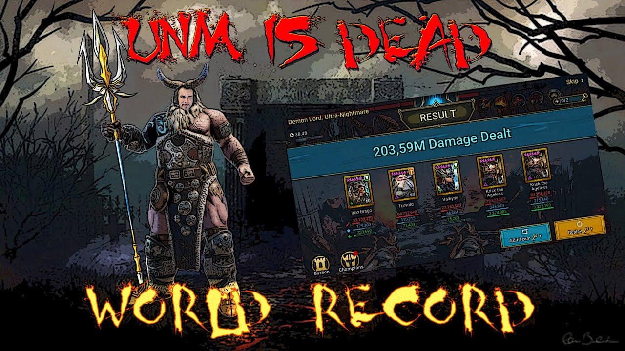 Download WORLD RECORD UNM -203M- BEST CB TEAM [ESP-ENG-MULTI SUB] | Raid: Shadow Legends