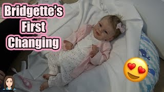 Reborn Baby Bridgette's First Changing | Kelli Maple thumbnail
