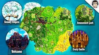Die SEASON 6 MAP In Fortnite! STAFFEL 6 KARTE DURCHGESICKERT ÄNDERUNGEN, UPDATE, STANDORTE! Fortnite Battle Royale