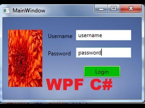 C# WPF Tutorial 6- Login Form using sqlite in C# WPF application PART-1/2