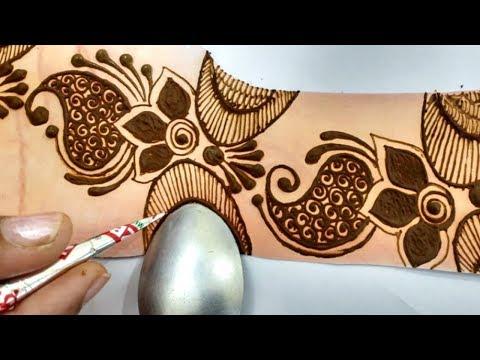 Latest unique Mehndi Design - Spoon की help से सीखें आसान मेहँदी | Mehndi for Hands | Beauty Zing