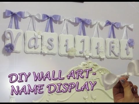 DIY Wall Art - Name Display - YouTube