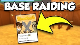 BASE RAIDING ON TIME CLASH! (BRAND NEW ROBLOX GAME)