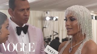 Jennifer Lopez on Her Most Extravagant Fashion Moment | Met Gala 2019 With Liza Koshy | Vogue