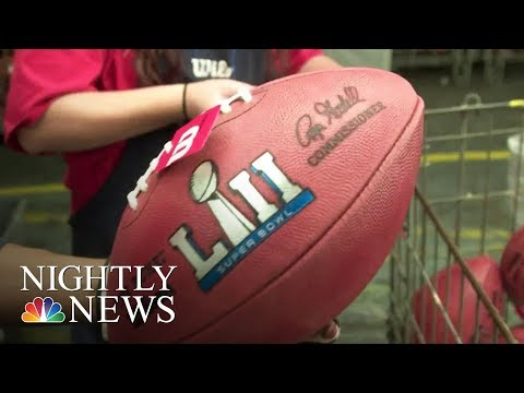 Visit The Ohio Factory Where Super Bowl Footballs Are Made | NBC Nightly News