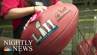 Visit The Ohio Factory Where Super Bowl Footballs Are Made   NBC Nightly News