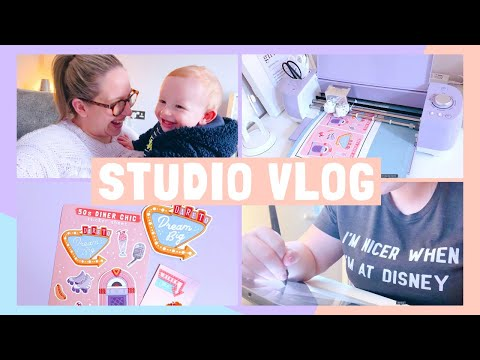 STUDIO VLOG | Finding the Balance & Making More Stickers! | 022