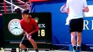 World's worst ballboy Murray vs Djokovic