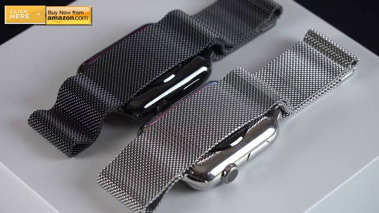 Apple Watch Space Gray and Black Milanese Loop - YouTube