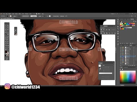 How To Cartoon Yourself Tutorial ( ADOBE ILLUSTRATOR ) thumbnail