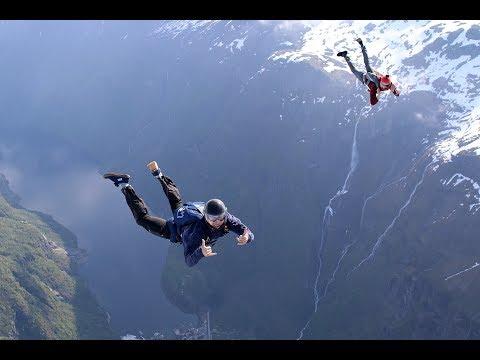 Skydiving into a Norwegian Fjord, Gudvangen