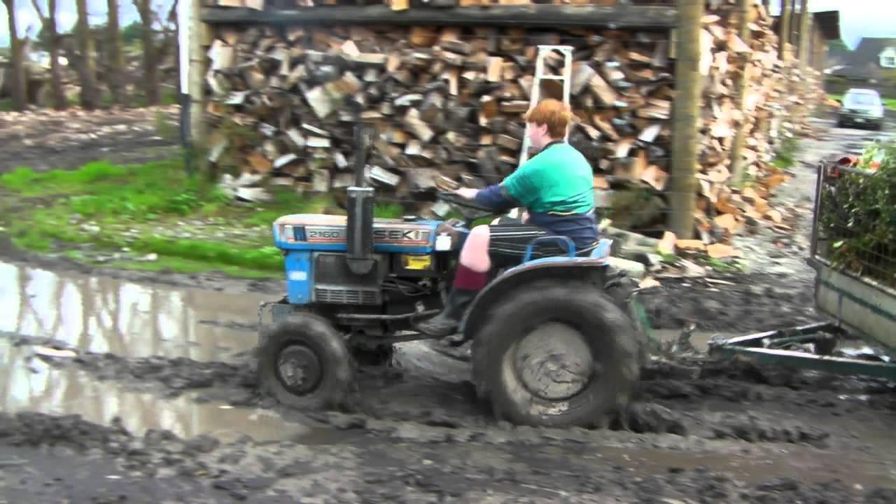 Iseki Tractor Tire Rims : Iseki tx tractor mudding youtube