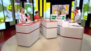 Лида Аксенич в программе Guten Morgen на канале М1 (Часть 1)