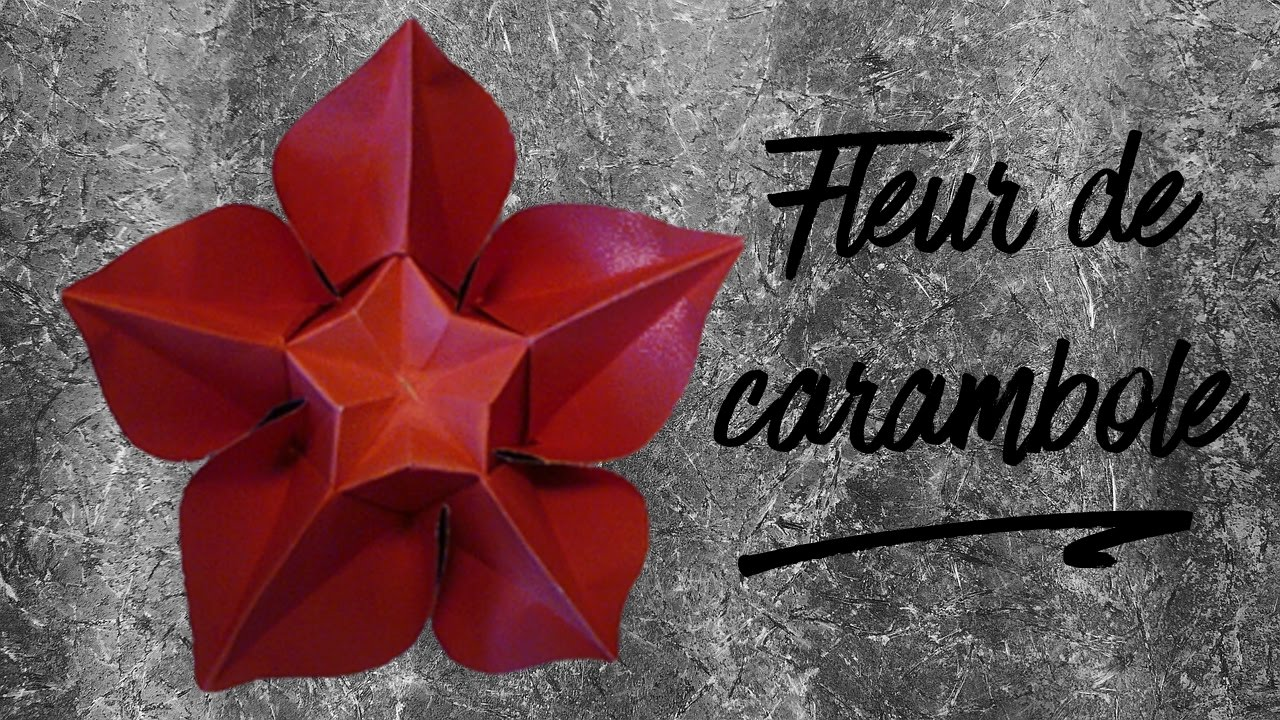 comment faire une fleur de carambole en origami youtube. Black Bedroom Furniture Sets. Home Design Ideas
