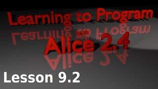 Alice Tutorial 2.4 Lesson 9.2 - Posing Based Animations