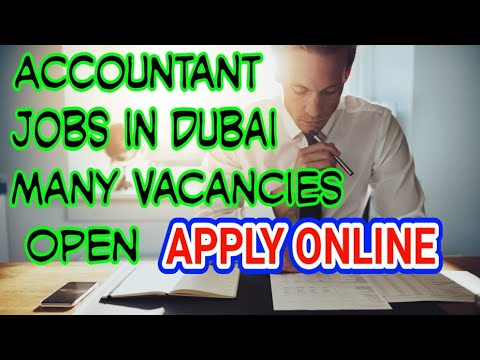 Accountant Jobs In Dubai, Accountant Vacancies Available In Dubai, Apply For Accounts Jobs