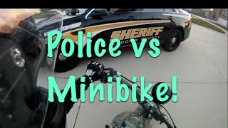 Pulled Over By Police On MINIBIKE!