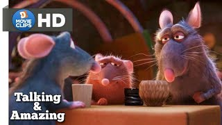 Ratatouille Hindi (08/12) Remy Mouse Meet His Family & Amazing Scene MovieClips