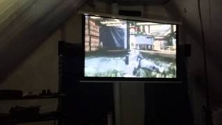 My bro playing cod ghost on projector
