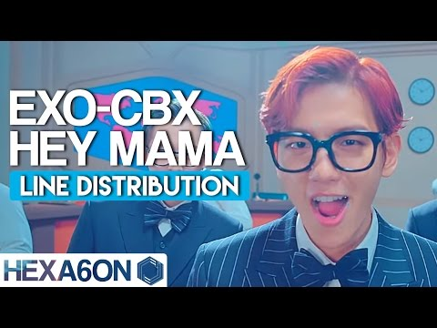 EXO-CBX - Hey Mama! Line Distribution (Color Coded)