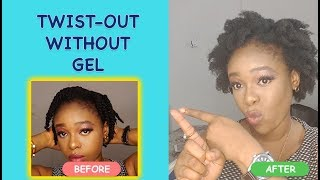 How to Twist Out Short 4c Natural Hair - No Gel