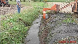 Drainage ditch  cleaning ; with a special