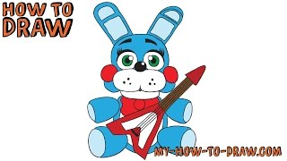 How to draw PLUSH TOY BONNIE - FNAF Plushies - Step-by-step drawing tutorial