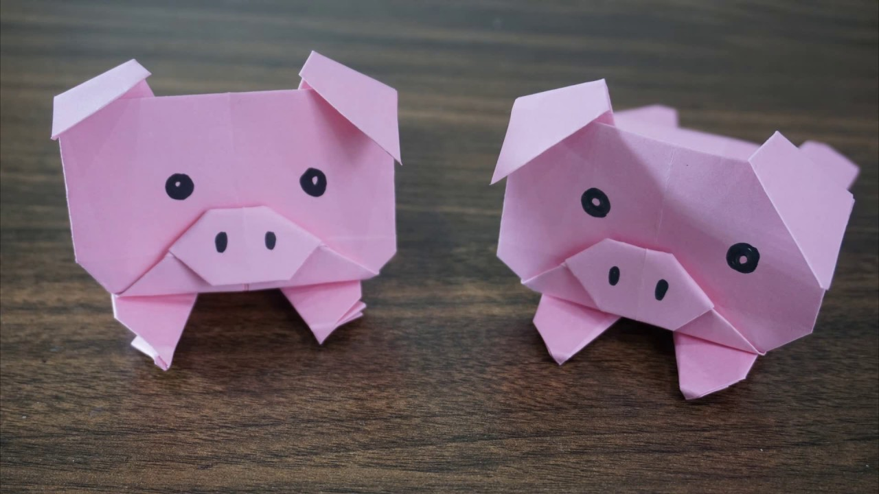 Origami Pig || How To Make Paper Origami Pig Easy - YouTube - photo#48
