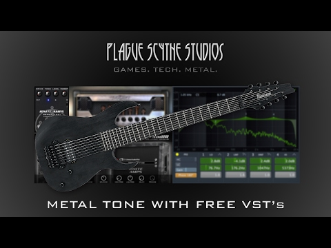 Modern Metal 8 String Guitar Tone w/ Free VST's - Tutorial