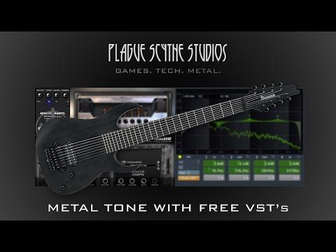 Modern Metal 8 String Guitar Tone w/ Free VST's - Tutorial