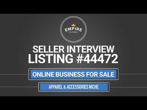 Online Business For Sale – $21K/month in the Apparel & Accessories Niche