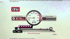 Internet speed test 10.7.2013