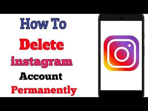 How to Delete Instagram Account Permanently 2019    DELETE INSTAGRAM ACCOUNT   