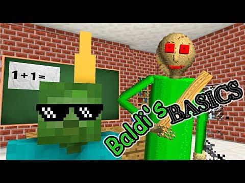 Monster School : BALDI'S BASICS BECOME TEACHER - Minecraft Animation