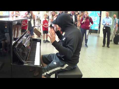 Celebrity Goes Incognito To Play a Street Piano  Public Stunned!