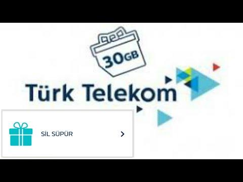 TURK TELEKOM 30 GB HEDİYE İNTERNET | SİLSÜPÜR