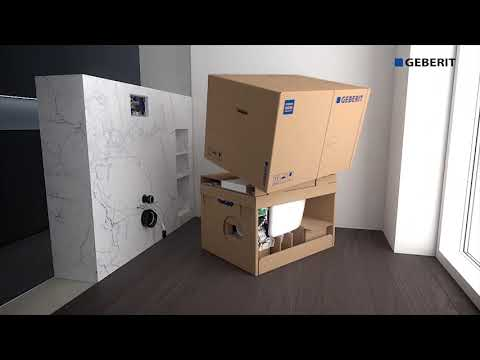 Geberit Aquaclean Mera Dusch WC die Installation